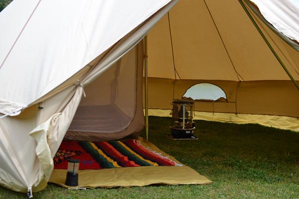 キャンプ ベルテント とんがり テント フジカ 灯油ストーブ