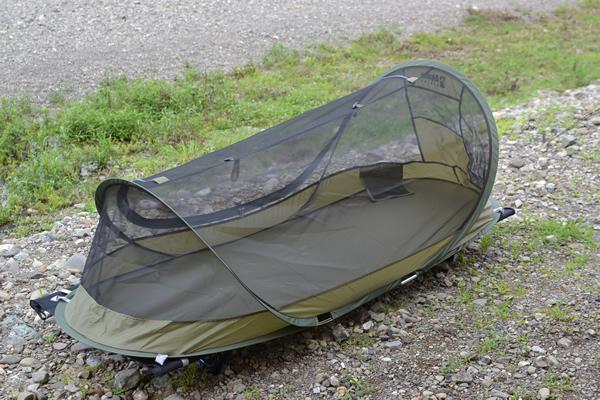 夏 キャンプ 暑さ対策 コット メッシュ 蚊帳 カヤ ヘリノックス コットワン