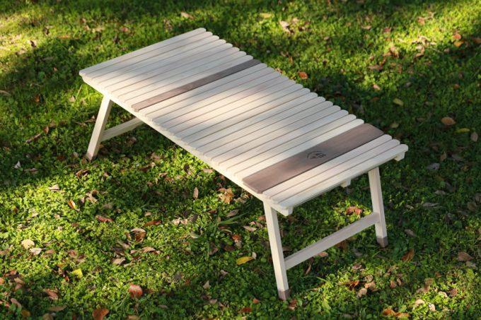 ウッドテーブル キャンプ ひのき ウォールナット