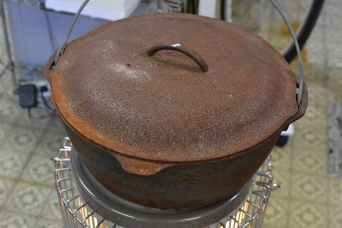 ダッチオーブン 赤サビ 錆 鉄なべ ロッジ