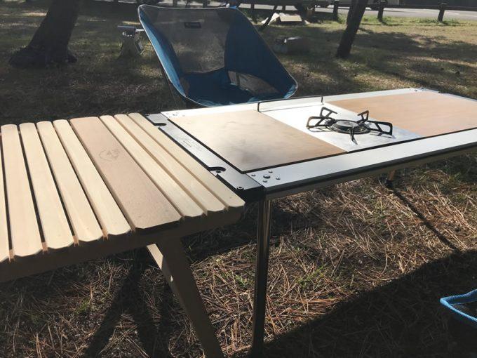 ウッドテーブル 400mm 40cm ロースタイル スノーピーク アイアングリルテーブル IGT 焚き火 ジカロ