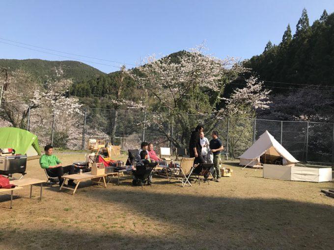 ほっと平山 花見 キャンプ 高知