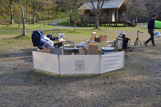 高知 キャンプ 焚き火 風防