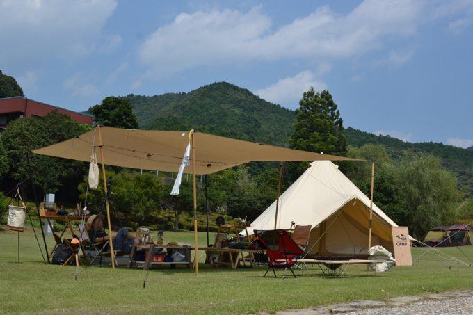 高知 キャンプ ベルテント タトンカ タープ コットン
