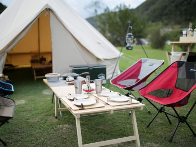 ふるさと納税 返礼品 アウトドア キャンプ テーブル 木製 折りたたみ