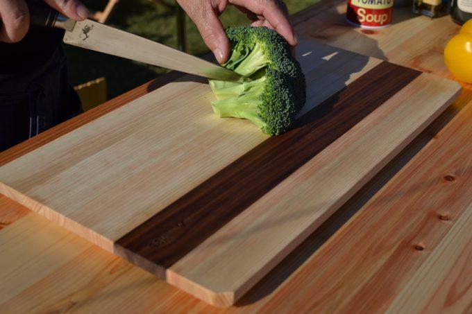 キャンプ テーブル まな板 木製 ウッド 料理 196