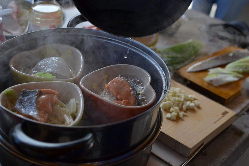 キャンプ 料理 イベント 炊き込みご飯 蒸し料理