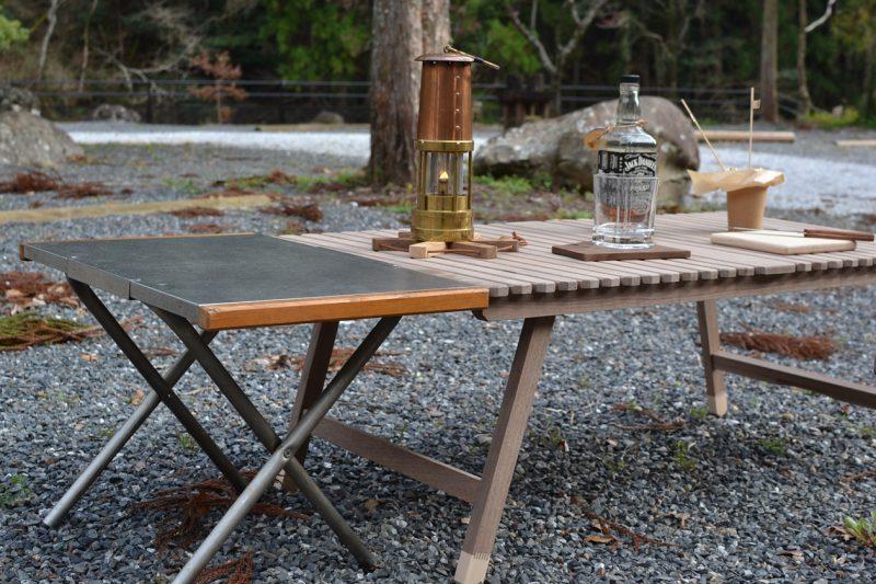 キャンプ テーブル 木製 ウッド ウォールナット 焚き火テーブル