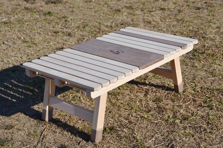 ソロキャンプ キャンプ テーブル ウッド 木製 ひのき 196 KUROSON ソロ