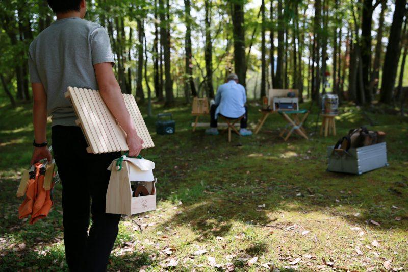 キャンプ スパイスボックス 調味料 キッチンペーパー ケース ボックス 木製 ウッド