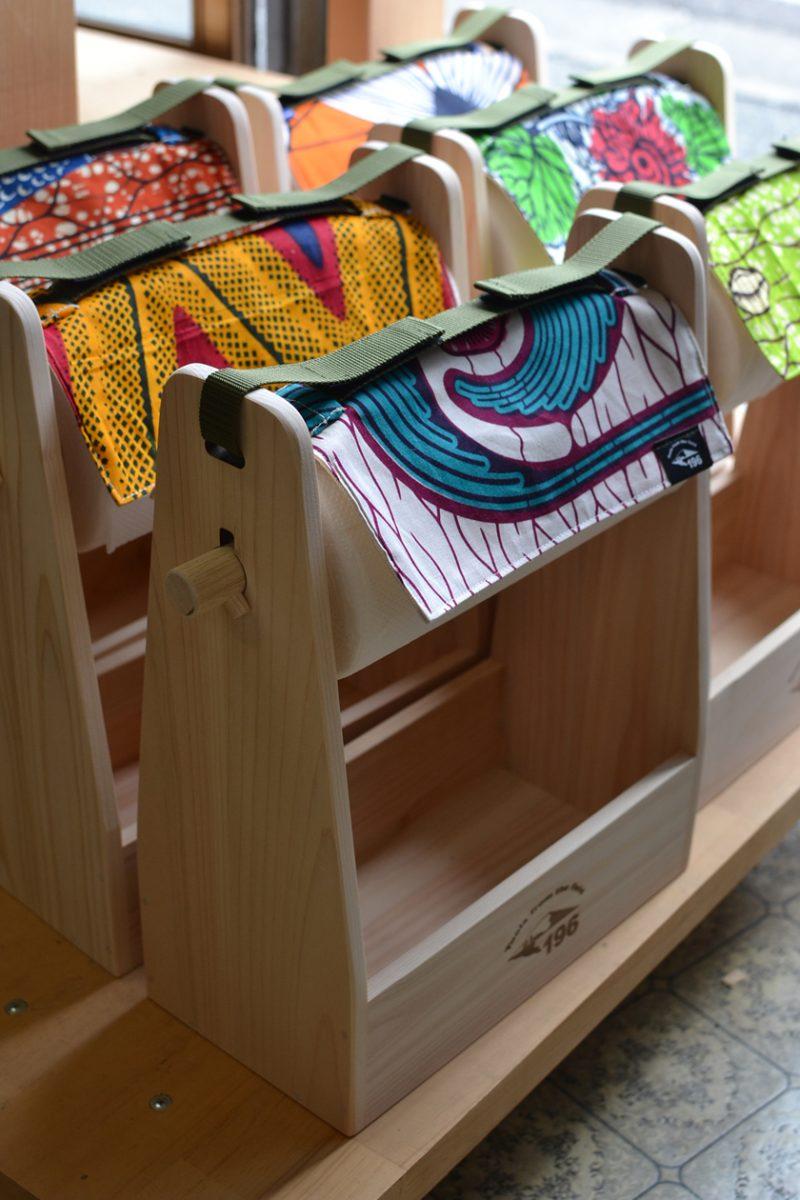 カンガ アフリカ柄 限定 キャンプ スパイスボックス 調味料 キッチンペーパー ケース ボックス 木製 ウッド