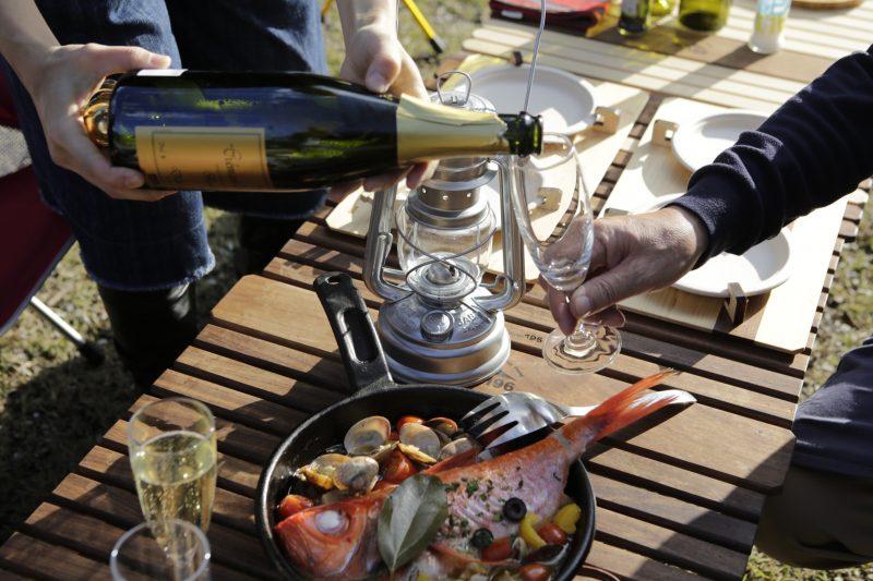 キャンプ アウトドア BBQ バーベキュー お酒 ワイン ワイングラス 持ち運び ケース ボックス バスケット