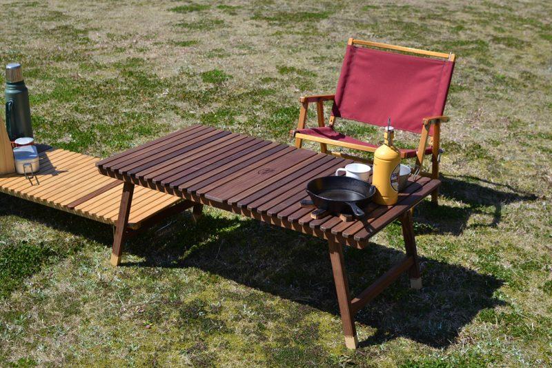キャンプ キャンプ用品 キャンプ道具 キャンプギア ウッドテーブル キャンプテーブル 木製テーブル ウォールナット 折りたたみ 196