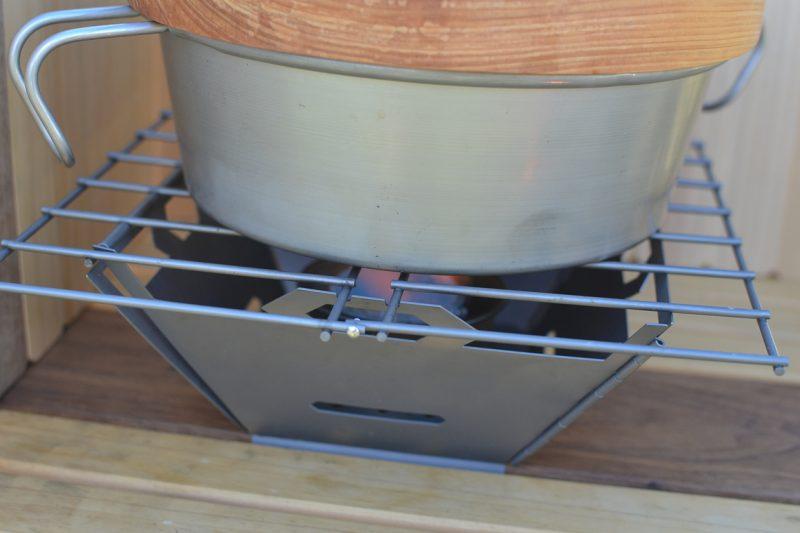 キャンプ 料理 アナルコボウル 飯盒 ご飯 固形燃料